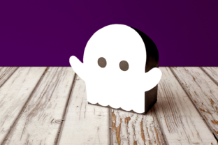 Halloween Ghost Gift Box SVG Graphic 3D Shapes By RisaRocksIt