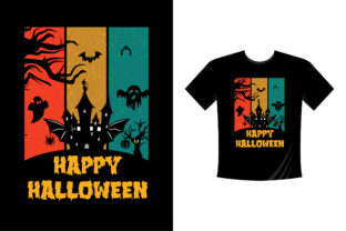 Print on Demand: Halloween T-Shirt Design 13 Graphic Crafts By colorify_design