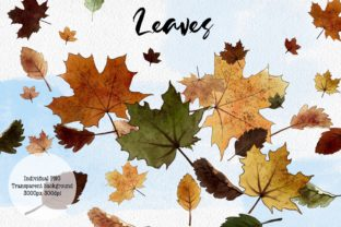 Hello Autumn Clipart, Leaves and Pumpkins Graphic Illustrations By Arte de Catrin 8