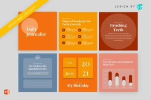 Instagram Feed Coaching Daily Journalist Graphic Graphic Templates By 57creative