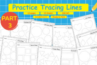 Kindergarten Tracing Lines Part 3 Graphic Teaching Materials By Kids Zone