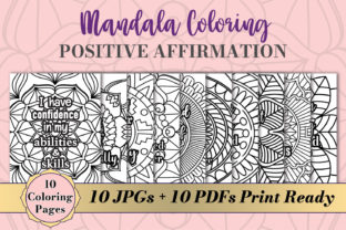 Print on Demand: Mandala Coloring Pages Affirmation Quote Graphic Coloring Pages & Books By AlyviaSkye