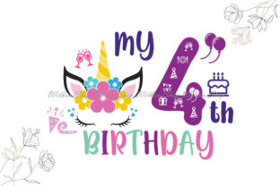 My 4th Birthday Svg, Fourth Bday Svg Graphic Illustrations By Wilkins Shop