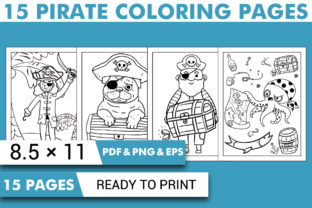 Print on Demand: Pirate Coloring Book Pages for Kids Graphic Coloring Pages & Books Kids By KDP INTERIOR DESIGN