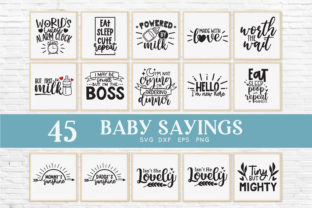 Baby Sayings Newborn Svg Bundle Graphic Crafts By peachycottoncandy 2