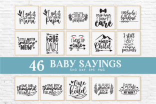 Baby Sayings Newborn Svg Bundle Graphic Crafts By peachycottoncandy 3