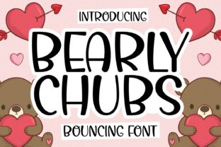 Print on Demand: Bearly Chubs Script & Handwritten Font By Keithzo (7NTypes)