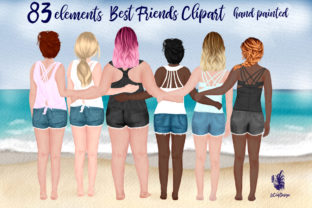 Print on Demand: Best Friends Clipart Besties Mug Designs Graphic Illustrations By LeCoqDesign 1