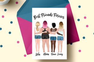 Print on Demand: Best Friends Clipart Besties Mug Designs Graphic Illustrations By LeCoqDesign 5