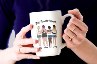 Print on Demand: Best Friends Clipart Besties Mug Designs Graphic Illustrations By LeCoqDesign 7