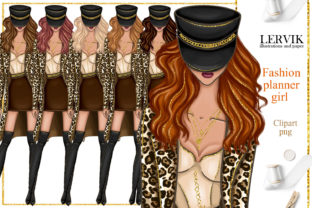 Print on Demand: Fashoin Girl Clipart, Fall Girl Clipart Graphic Illustrations By LerVik
