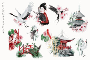 Print on Demand: Japanese Huge Collection Plus BONUSES! Graphic Illustrations By Busy May Studio 10