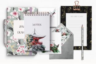 Print on Demand: Japanese Huge Collection Plus BONUSES! Graphic Illustrations By Busy May Studio 8