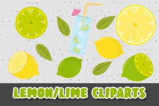Print on Demand: Lemon & Lime Cliparts Illustrations PNG Graphic Illustrations By Grafixeo