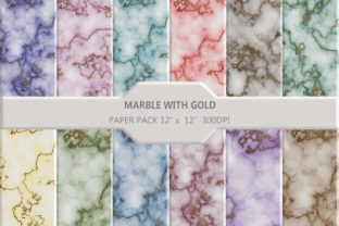 Marble with Gold Glitter Background Graphic Backgrounds By DifferPP