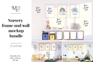 Nursery Frame and Wall Mockup. Graphic Product Mockups By OK-Design