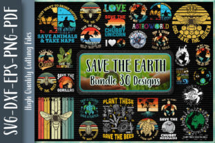 Print on Demand: Save the Earth Bundle Graphic Crafts By Unlimab
