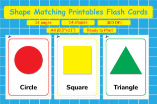 Shape Matching Printables Flash Cards Graphic Teaching Materials By Kids Zone