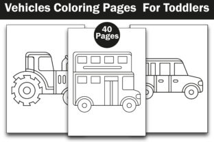 Vehicles Coloring Pages  for Toddlers Graphic Coloring Pages & Books Kids By mi632883