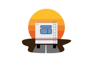 RV Driving into the Sunset Cars Craft Cut File By Creative Fabrica Crafts
