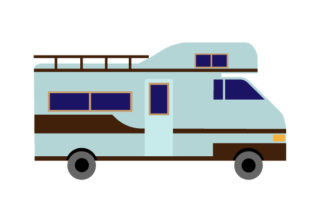 Vintage Class C RV Cars Craft Cut File By Creative Fabrica Crafts