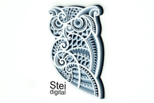 3d Owl Layered Layered SVG, Dxf Files. Graphic 3D SVG By SteiDigital