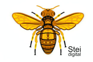 3d Layered Queen Bee SVG, Dxf Cut Files. Graphic 3D SVG By SteiDigital 2