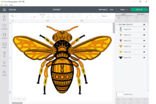 3d Layered Queen Bee SVG, Dxf Cut Files. Graphic 3D SVG By SteiDigital 8