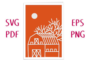 Barn Card SVG Cut File Graphic 3D SVG By Nic Squirrell