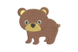 Bear Animals Embroidery Design By Embroiderypacks