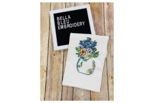 Blue Bonnets Bouquets & Bunches Embroidery Design By Bella Bleu Embroidery
