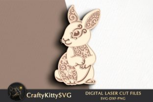 Bunny 3D Laser Cut Template Graphic 3D SVG By CraftyKittySVG