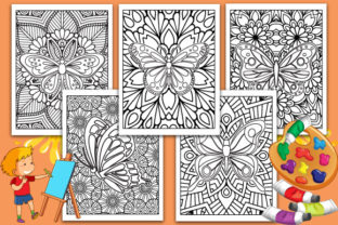 Print on Demand: Butterfly Adults Coloring Pages Graphic Coloring Pages & Books Adults By TrendColors