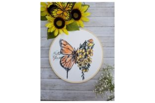 Butterfly Flower Bugs & Insects Embroidery Design By Bella Bleu Embroidery