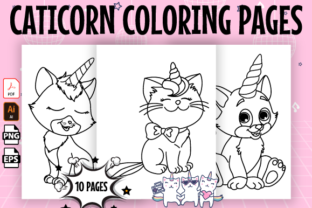 Print on Demand: Caticorn Coloring Pages for Kids - Kdp Graphic Coloring Pages & Books Kids By Kristy Coloring