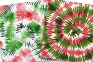Print on Demand: Christmas Tie Dye Digital Papers Graphic Backgrounds By PinkPearly 2