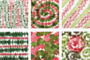 Print on Demand: Christmas Tie Dye Digital Papers Graphic Backgrounds By PinkPearly 3