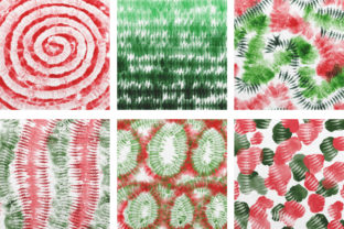 Print on Demand: Christmas Tie Dye Digital Papers Graphic Backgrounds By PinkPearly 4