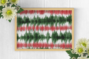 Print on Demand: Christmas Tie Dye Digital Papers Graphic Backgrounds By PinkPearly 5