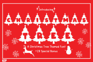 Print on Demand: Christmas Tree Decorative Font By KtwoP