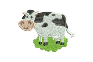 Cow Animals Embroidery Design By Embroiderypacks