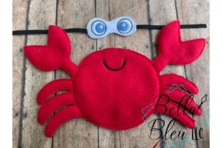 Crab Elf Fish & Shells Embroidery Design By Bella Bleu Embroidery