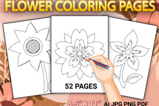 Print on Demand: Flower Coloring Pages for Kids Graphic Coloring Pages & Books Kids By Simran Store
