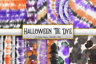 Print on Demand: Halloween Tie Dye Digital Papers Graphic Backgrounds By PinkPearly