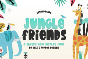 Print on Demand: Jungle Friends Display Font By Salt and Pepper Fonts