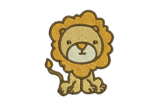 Lion Animals Embroidery Design By Embroiderypacks