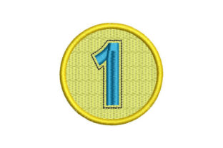 Medal Number 1 Babies & Kids Embroidery Design By Embroiderypacks