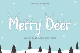 Print on Demand: Merry Deer Decorative Font By yogaletter6