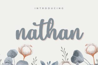 Print on Demand: Nathan Script & Handwritten Font By Typobia