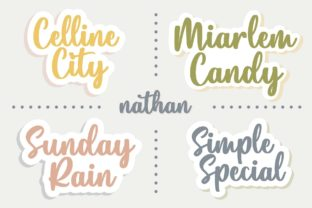Print on Demand: Nathan Script & Handwritten Font By Typobia 2